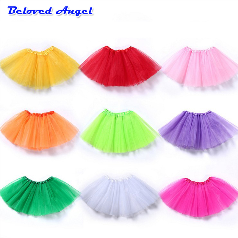 Children Skirts Girl Clothing Summer Color Girls Clothes Colorful Kids Tutu Skirt Princess Party Petticoat Pettiskirt 2-7 Years
