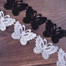 12 pçs borboleta artesanal laço fita tecido enfeites de renda para costura acessórios decoração do casamento diy artesanato suprimentos