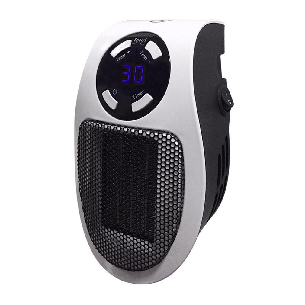 Light And Easy To Use Just Plug It Into The Socket Portable Electric Heater Fan Timing Air Warmer Wall-mounted Led Heater