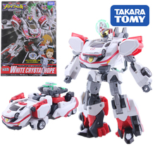 TAKARA TOMY Action Figure Speed Rescue Children Gifts Doll Toys Transformation TOMICA White Deformation robot 03MK Police Toy tomica бежевый