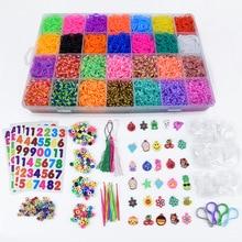 Loom Bands Colorful Rubber Loom Band Box Girls Gift Charmes Bracelet Making Kit Creavie DIY Toy 5000-10000pcs/set браслет цепь brand new 50set diy fedex loom bands