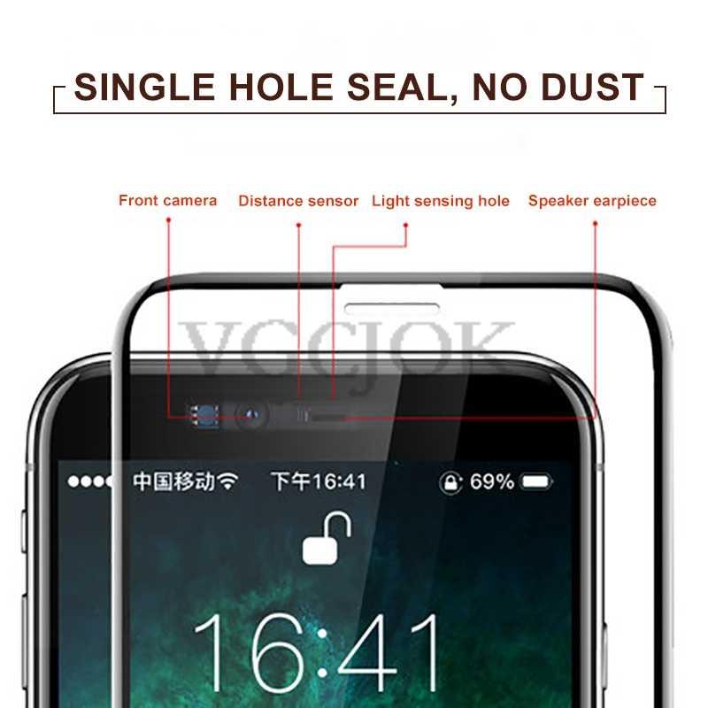 100D واقي شاشة منحني لهاتف آيفون 6 6s 7 8 Plus SE 2020 واقي شاشة لهاتف آيفون X XR XS 11 Pro Max واقي زجاجي