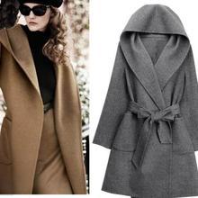 Новое Женское Свободное длинное пончо с рукавами «летучая мышь», накидка с неровным подолом, Однотонное шерстяное пальто размера плюс, шаль