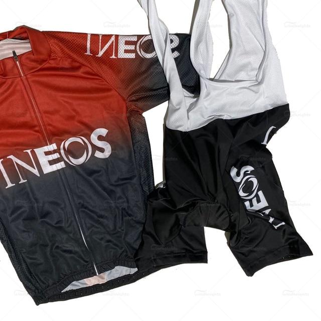 Maillot de cyclisme pour homme, new pro team ineos, ensemble pour homme, à manches courtes, respirant, été, 2020