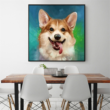 HUACAN 5d Diy Diamond Painting Mosaic Dog Cross Stitch Full Square Drill Pictures Rhinestone Embroidery