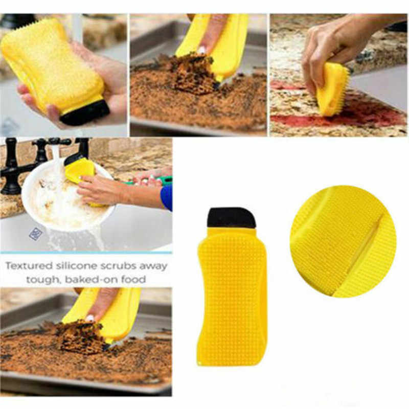 3In1 Multi-function Magic Unlimited Silicone Sponge Clean Eco-Friendly Brush Hero Dish Washing Kitchen Scrubber