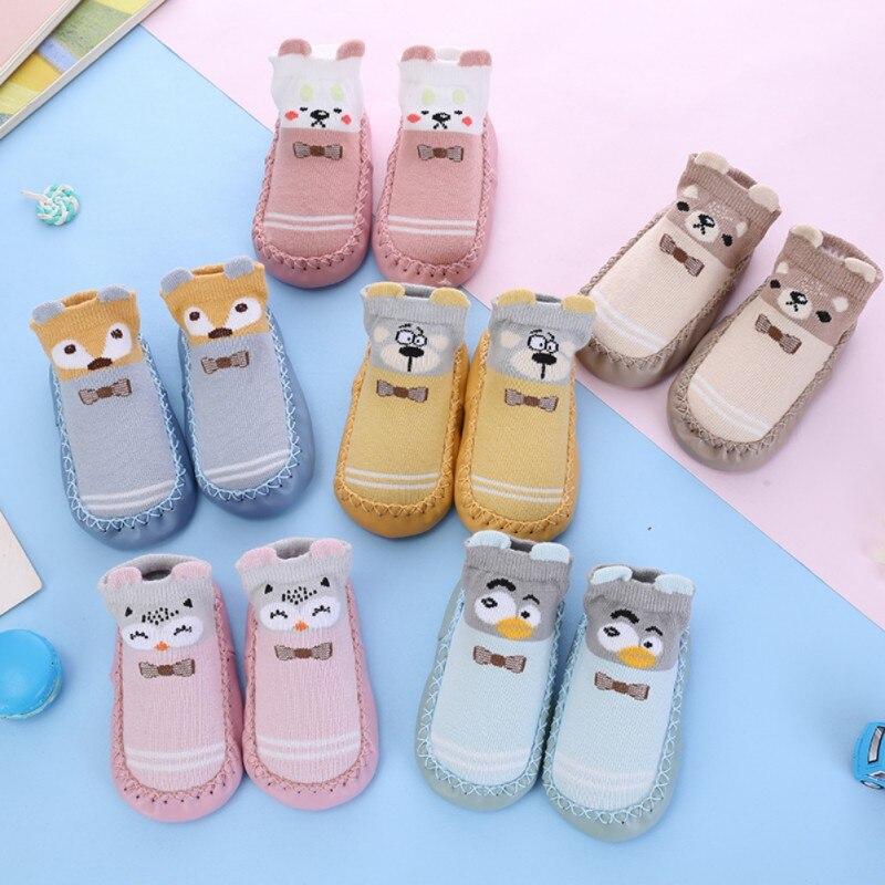 Autumn Winter Children's Floor Sock Newborn Baby Cute Cartoon Slippers Kids Non-Slip Cotton Floor Socks