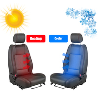 premium fan car heater 5 high flow fan ventilated w round rotary switch heated 2 alloy wire heating pad kit seat heater fans