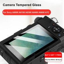 A6400 câmera original 9h câmera de vidro temperado protetor de tela lcd para sony alpha a6000 a6100 a6300 a6400 a6600 a7c câmera