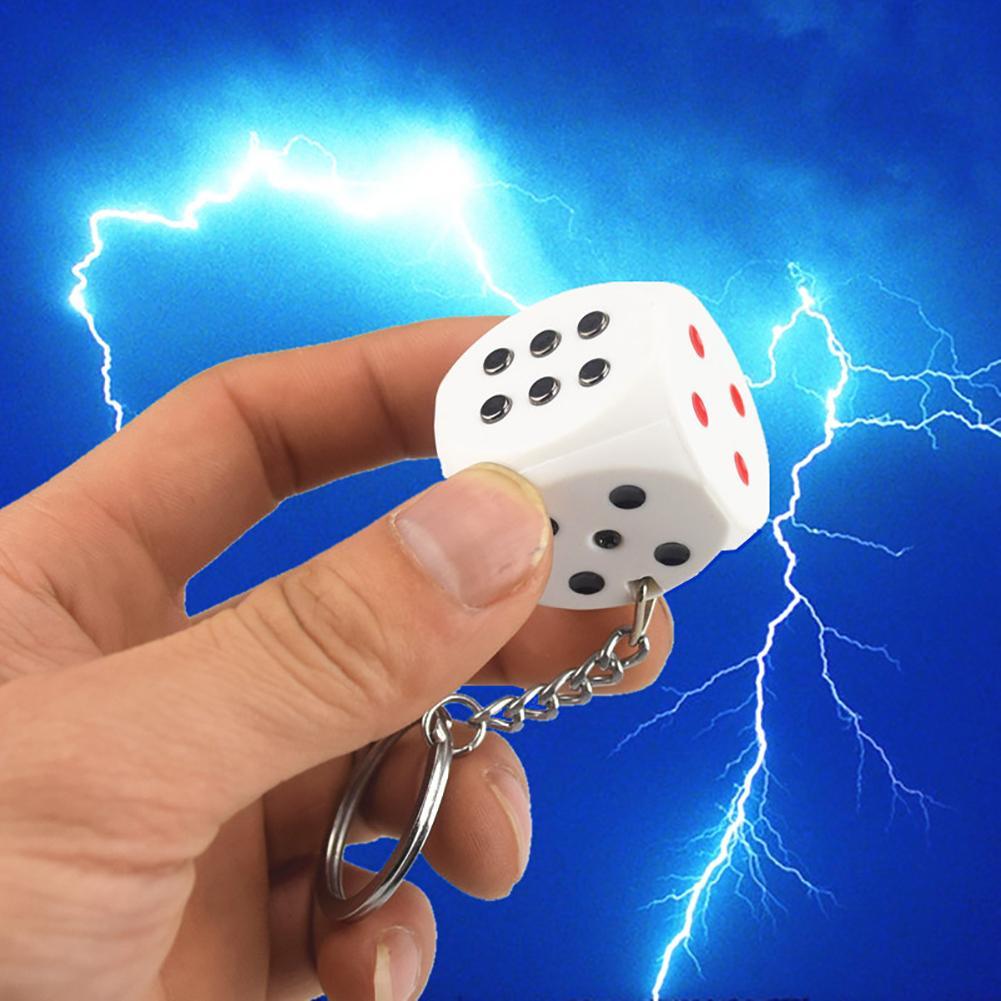 Electric Shock Dice Practical Joke Gag Prank Funny Trick Fun Gadget April Fool Toy Halloween Party Joke Keychain Prank Trick Toy