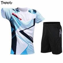 Высокое качество, теннисные майки, рубашка для бадминтона, шорты, набор, мужские комплекты для настольного тенниса, одежда для пинг-понга, дл...