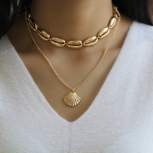 Bohemian Alloy Shell Necklace Clavicle Chain Simple Ethnic Style Multi-Layer Neck Accessory Female Ornaments