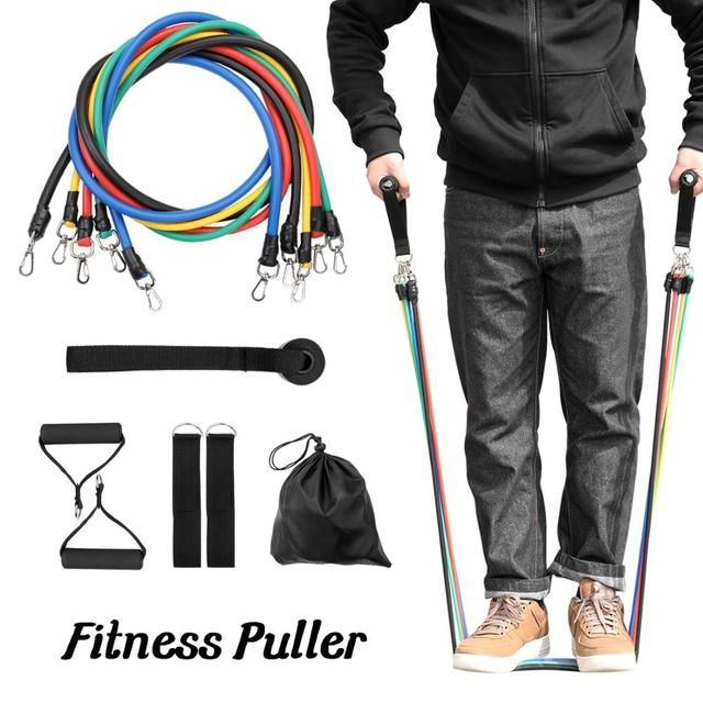 11 PCS Fitness Pull Rope Resistance Bands 1