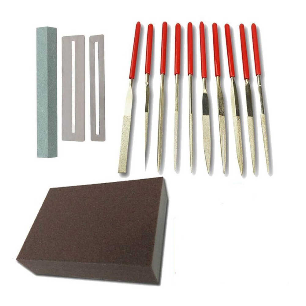 Stainless Steel Gitar Polishing File Kit Fret Polishing Perlindungan Gasket Batu Gerinda Gitar Alat Perbaikan