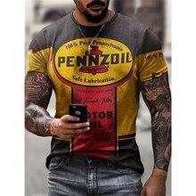 Maglietta a maniche corte Casual nuova grafica estiva per uomo Streetwear oversize stampa digitale 3D t-shirt di grandi dimensioni per uomo