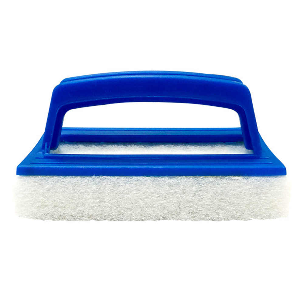 Scum Sink Portable Tub Swimming Pool Soft Spa Cleaning Brush Rectangle Scrubber With Handle Non Woven Wall Tool Hanging