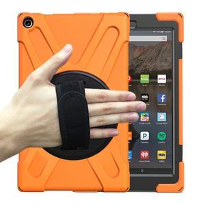 Image 2 - קינדל אש HD 10 10.1 אינץ 2017 Heavy Duty שריון מקרה 360 תואר מסתובב סוגר צמיד Tablet כיסוי
