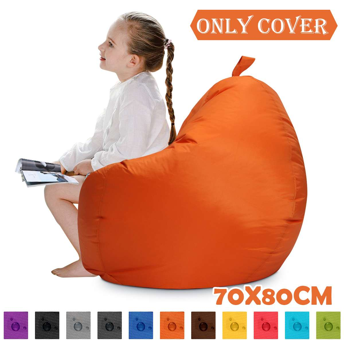 Chair Cover Lazy Beanbag Without Filling Home Gamer Office With Back Comfortable Kids Aults Sofa Covers