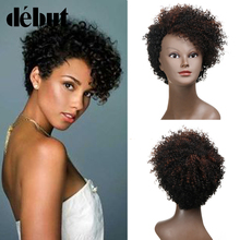 Debut Short Bob Wigs Cheap Kinky Curly Wigs For Black Women