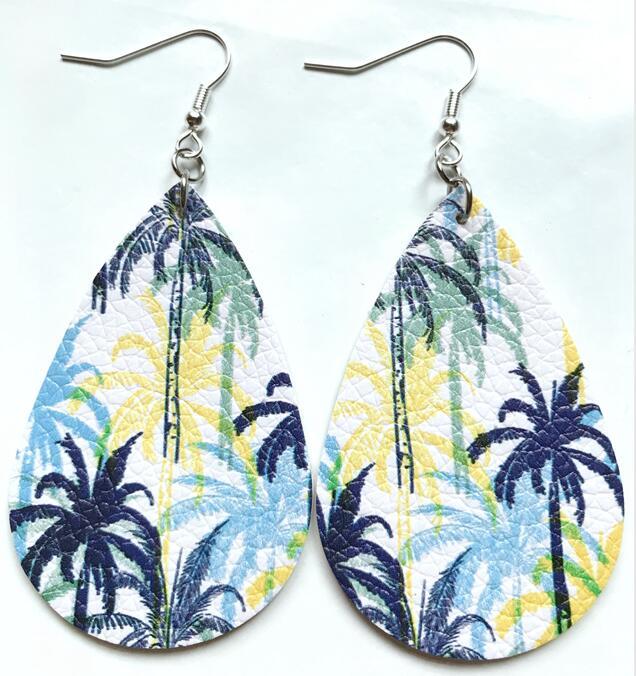 Bohemian Fashion Jewelry Simple Pendant Drop Earrings For Women Glitter Tear Leather Earrings Best Friend Gifts
