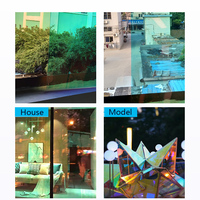 SUNICE Chamelon Color Rainbow Effect Decoration Window Film Use for Acylic Glass Self adhesive Self Adhesive Store DIY1.37*12m
