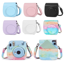 PU Leather Bag Camera Protective Case Cover Shell With Adjustable Shoulder Strap For Instax Mini 11 Film Camera Accessories