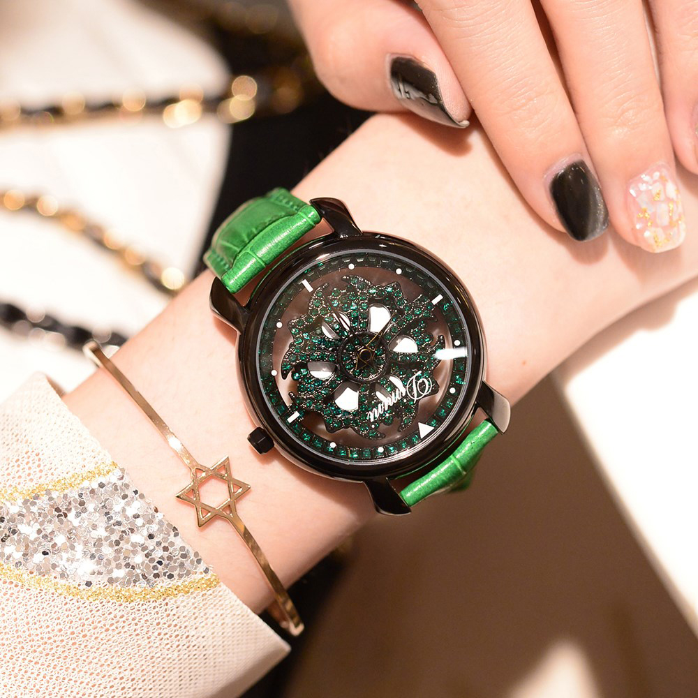 ใหม่ผู้หญิง Rhinestone นาฬิกา relogio feminino หญิงนาฬิกาเพชรสร้อยข้อมือแบรนด์นาฬิกาคริสตัลควอตซ์นาฬิกา-ใน นาฬิกาข้อมือสตรี จาก นาฬิกาข้อมือ บน   1