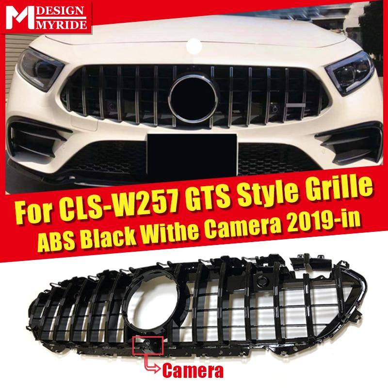 Parrilla W257 GT para MercedesMB CLS clase Facelift 4Matic Auto CLS300 CLS350 CLS450 CLS500 parrilla frontal ABS negro con cámara 2019 Transmisión conector 13-Pin adaptador macho de 722,6 para Mercedes-Benz W219 CLS320 CLS280 CLS350 CLS300 CLS500 CLS550 A2035400253