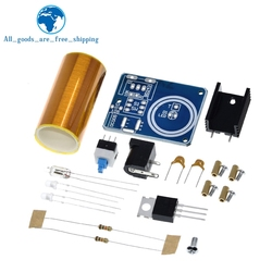 1PCS BD243 Mini Tesla Coil Kit Magic Props DIY Parts Empty Lights Technology Diy Electronics BD243C