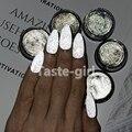 1 горшок Серый Белый Волшебный Цвет лак для ногтей Светоотражающая пудра супер яркий пудра Блеск порошок пигмент сияющая пыль