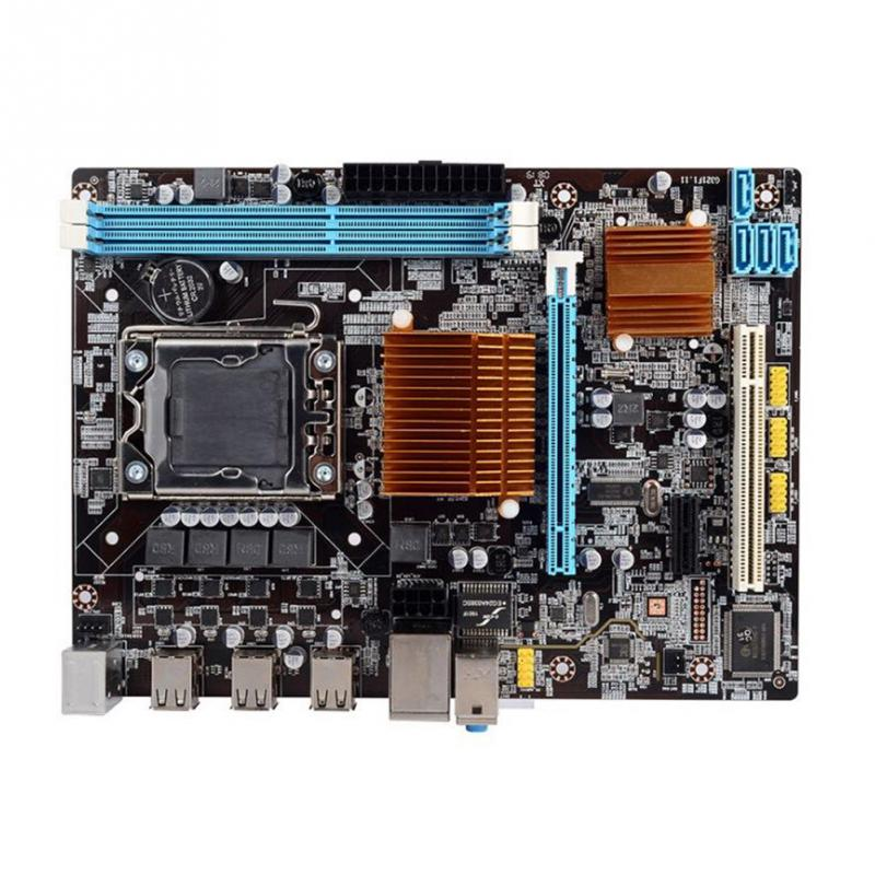 <font><b>X58</b></font>-1366 Durable CPU Home Replacement Teaching Stable DDR3 Single Accessories Professional <font><b>Dual</b></font> Channel Desktop <font><b>Motherboard</b></font> Set image