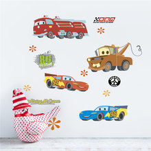 цены free shipping Disney Cars Wall Stickers For Kids Rooms Home Decor Living Room Cartoon Wall Decals DIY Mural Art PVC Posters