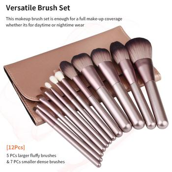 Makeup Brushes Set WeChip 12pcs Premium Makeup Brush Kit Kabuki Foundation Face Powder Blush Eyeshadow Concealers Cosmetic Brush 3