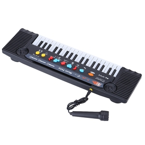Image 3 - 37 מפתחות רב תכליתי מיני אלקטרוני מקלדת פסנתר מוסיקה צעצוע עם מיקרופון חינוכיים Electone מתנה לילדים תינוקות