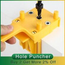 Drill-Bit Pocket-Hole Dowel-Joints Jig Carpentry Handheld for Hole-Puncher Jig-System