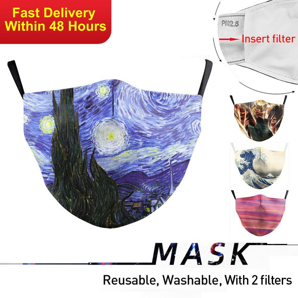 Zawaland Adults Washable Face Mouth Mask Protective PM2.5 Filter Anti Pollution Anti Dust Mouth-muffle Bacteria Proof Flu Masks
