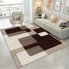 Современное искусство моющиеся ковер для Гостиная Моющиеся Современная печать геометрический пол ковер коврик для гостиной Спальня