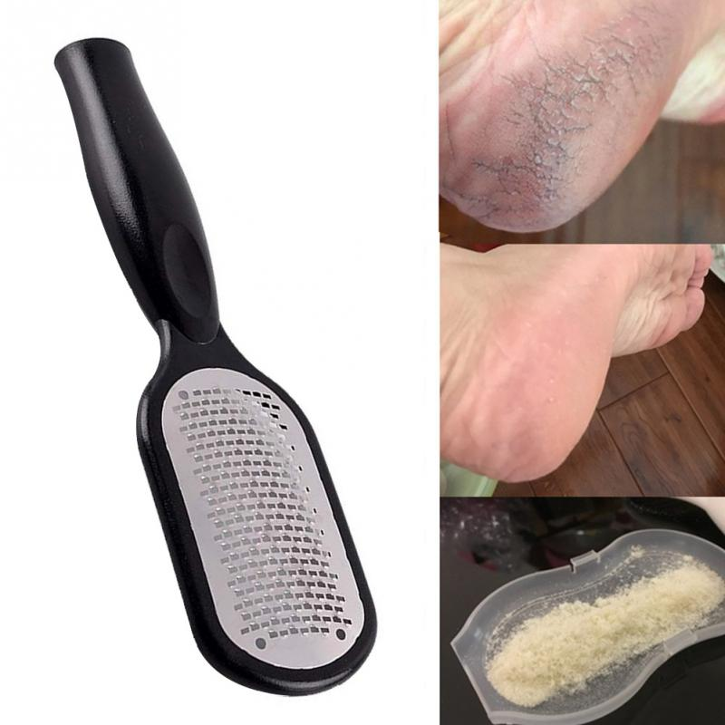 Pedicure Foot File Callus Remover Stainless Steel Foot Scraper Portable Rasp Colossal Foot Grater Scrubber Pro for Wet/Dry Feet