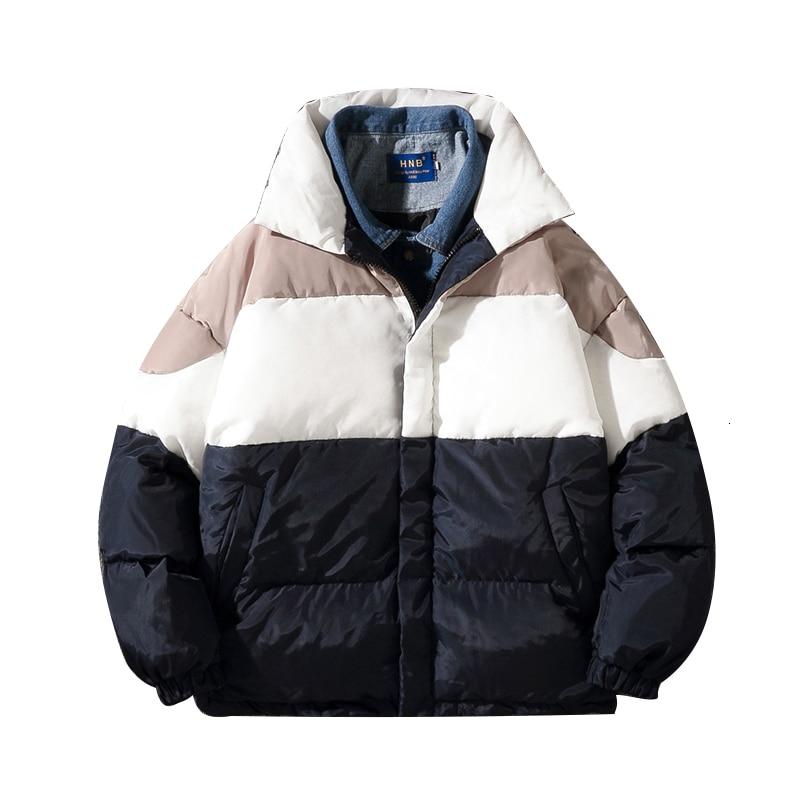 Зимняя куртка, Мужская теплая Толстая парка, Мужская модная джинсовая стеганая повседневная куртка, Мужская Уличная хлопковая куртка
