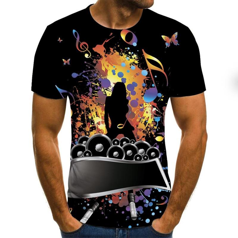 T shirt unisexe style hip hop, impression complète en 3D, instrument Musical, art, streetwear à la mode, décontracté été | AliExpress