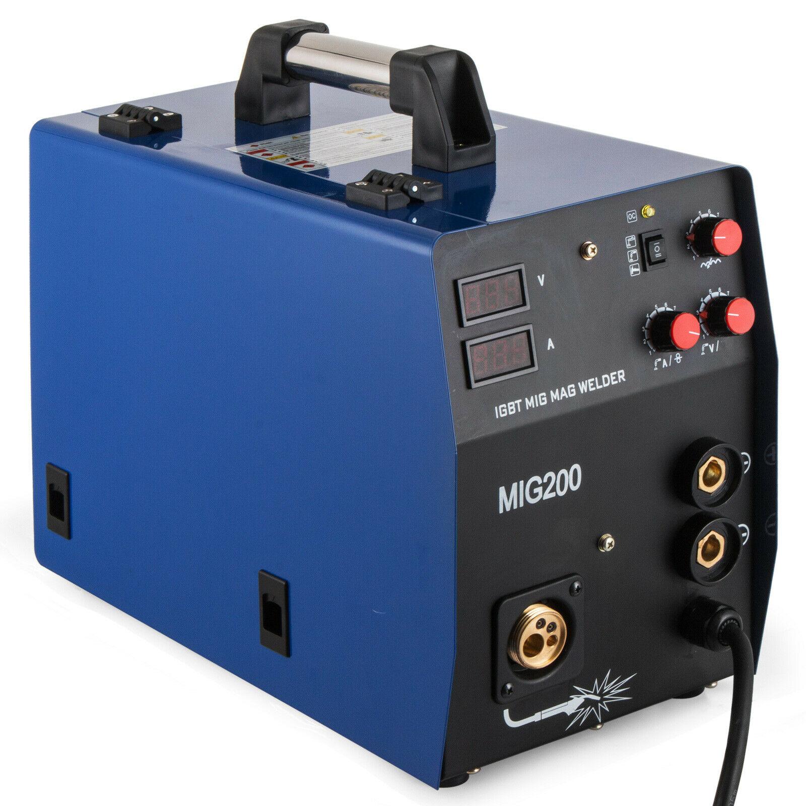 200Amp MIG/MMA 2-in-1 przetwornica DC spawarka IGBT, gaz/bezgazowa 220V