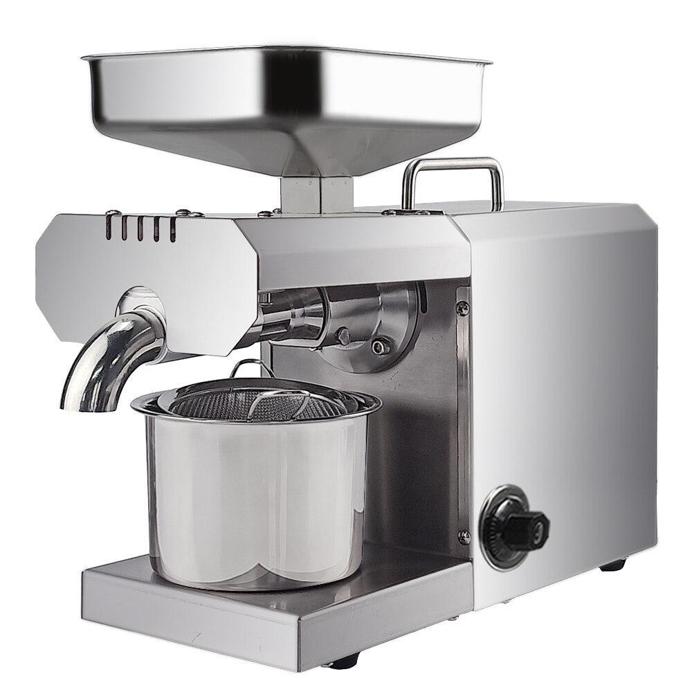 700W Commercial ménage presse à huile Machine automatique presseur d'huile expulseur noix graines noix de coco huile extracteur contrôle de la température