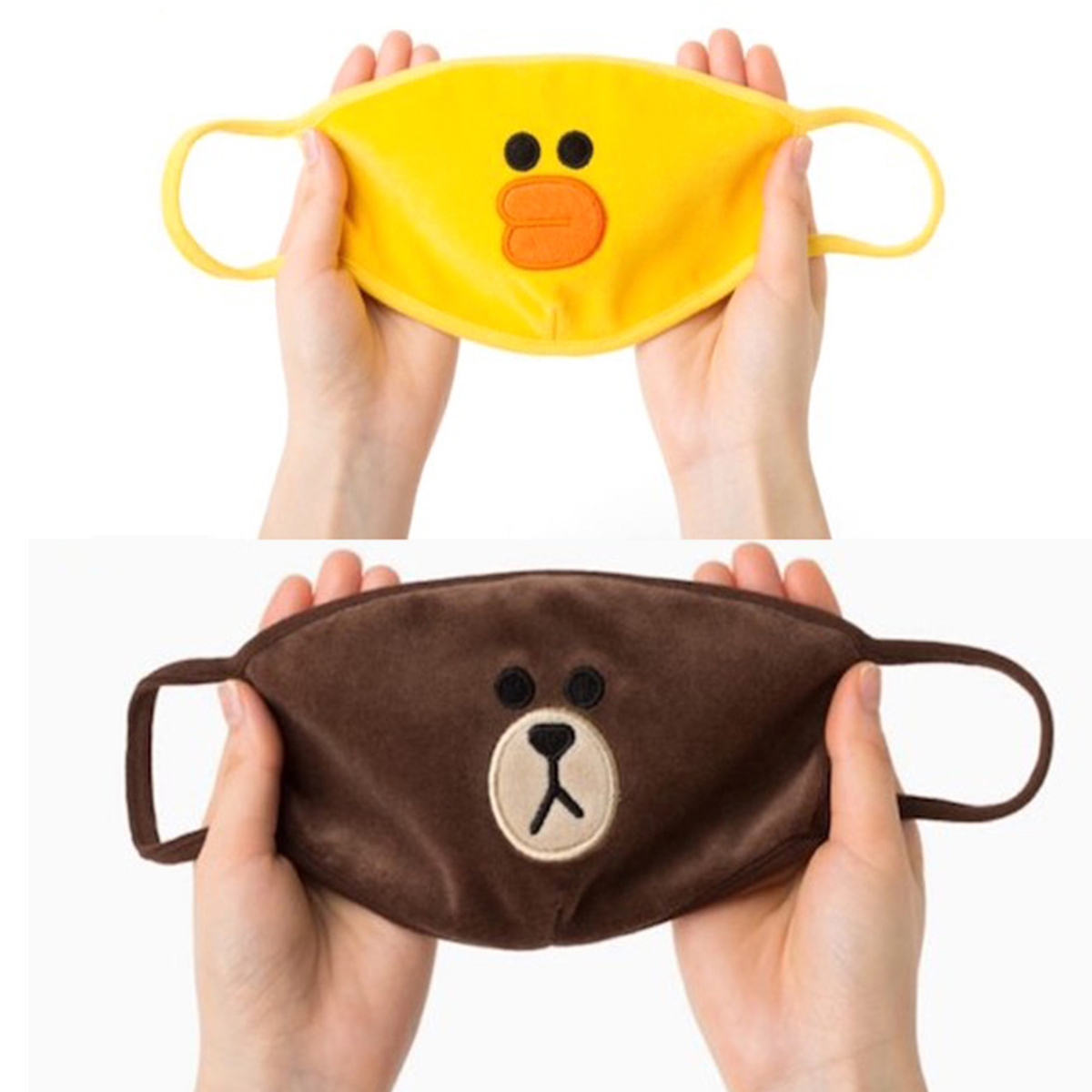 Masks Color Face Cover Anti-Dust Cotton PM2.5 Face Mouth Mask Cartoon Duck Bear Breath Mouth Masks For Cycling Camping Outdoor