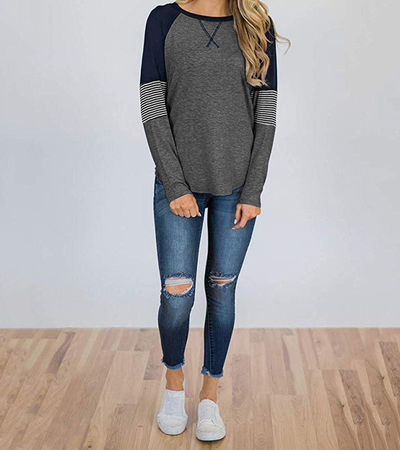 New Long Sleeve T Shirt Women Autumn Winter Round Neck Casual Loose Women T-shirt  Top Tee  Ladies tshirt  Female Clothes 2020 (5)