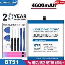 Losoncoer 4600 mah bt51 uso da bateria de alta qualidade para meizu mx5 m575m m575u bateria do telefone móvel ~ em estoque + ferramentas gratuitas