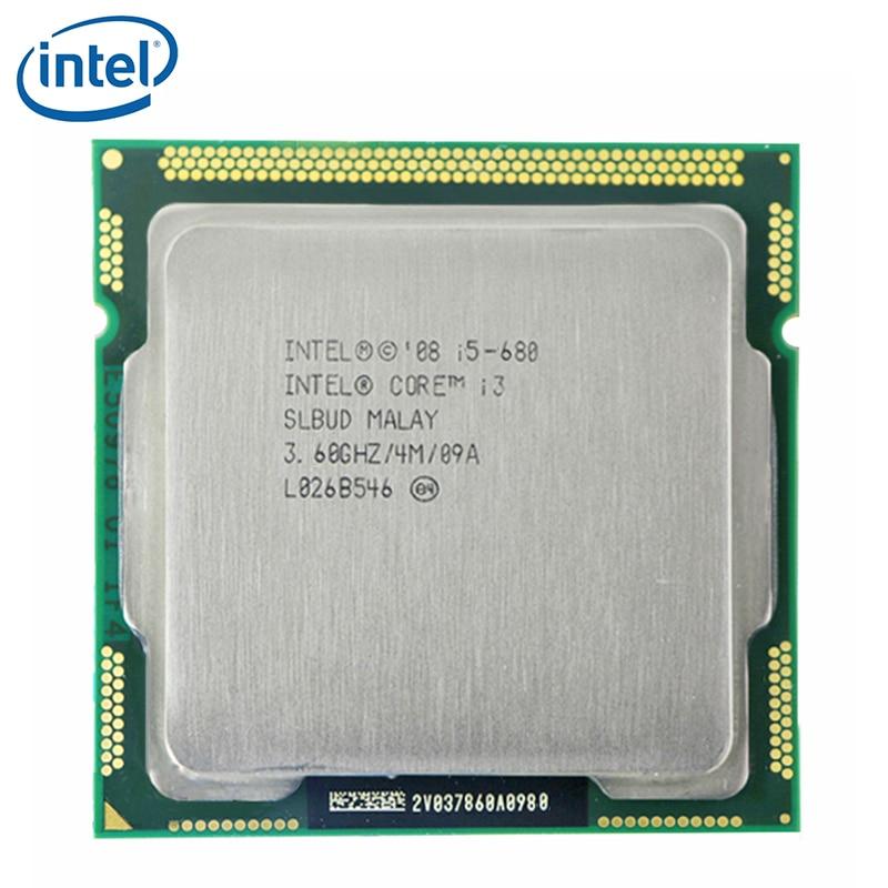 INTEL CORE i5-680 CPU i5 680 3.6GHz Dual-Core 73W 4M Socket LGA 1156 Desktop CPU tested 100% working 1
