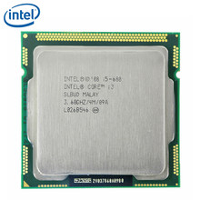 INTEL CORE i5-680 CPU i5 680 3.6GHz çift çekirdekli 73W 4M soket LGA 1156 masaüstü CPU % 100% çalışma test