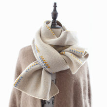 New Knitted Scarf Female with Jacquard of Wheat Spikes in Autumn and Winter of2019,Korean version thick long neckline wool scarf(China)