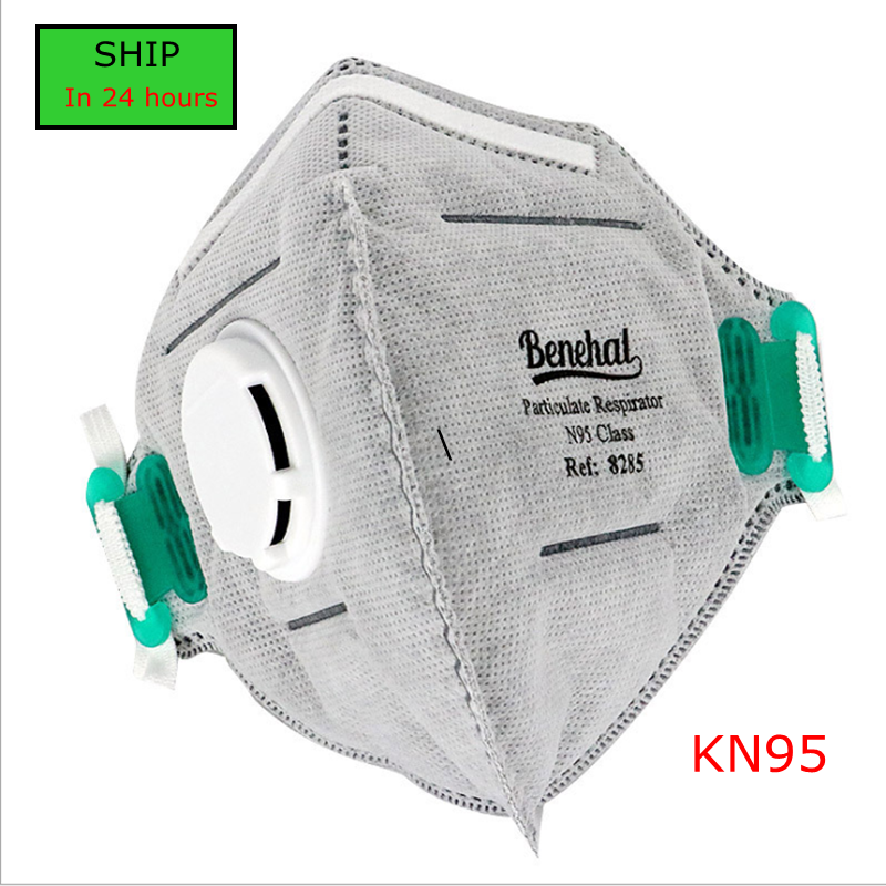 Grey N95 Respirator Mask One Time PM2.5 FFP3 Mask In Stock By Fast Shipping In 24 Hours