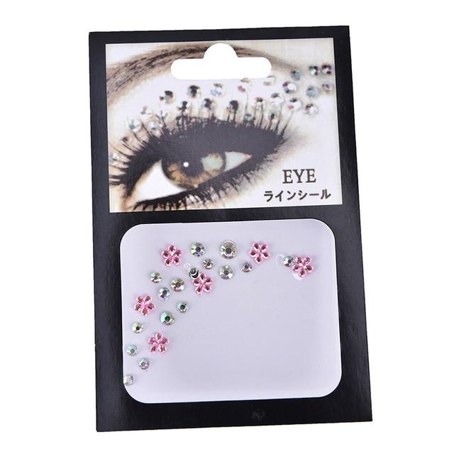 Christmas DIY Eyebrow Adhesive Crystal Glitter Face Body Art Jewels Festival Party Eye Stickers Tattoo Makeup Xmas Decor 2